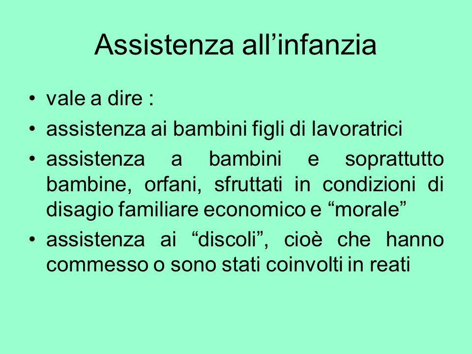 Assistenza all'infanzia