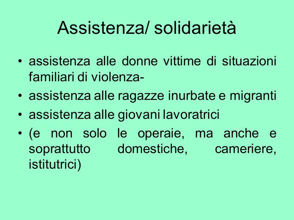 Assistenza/ solidarietà