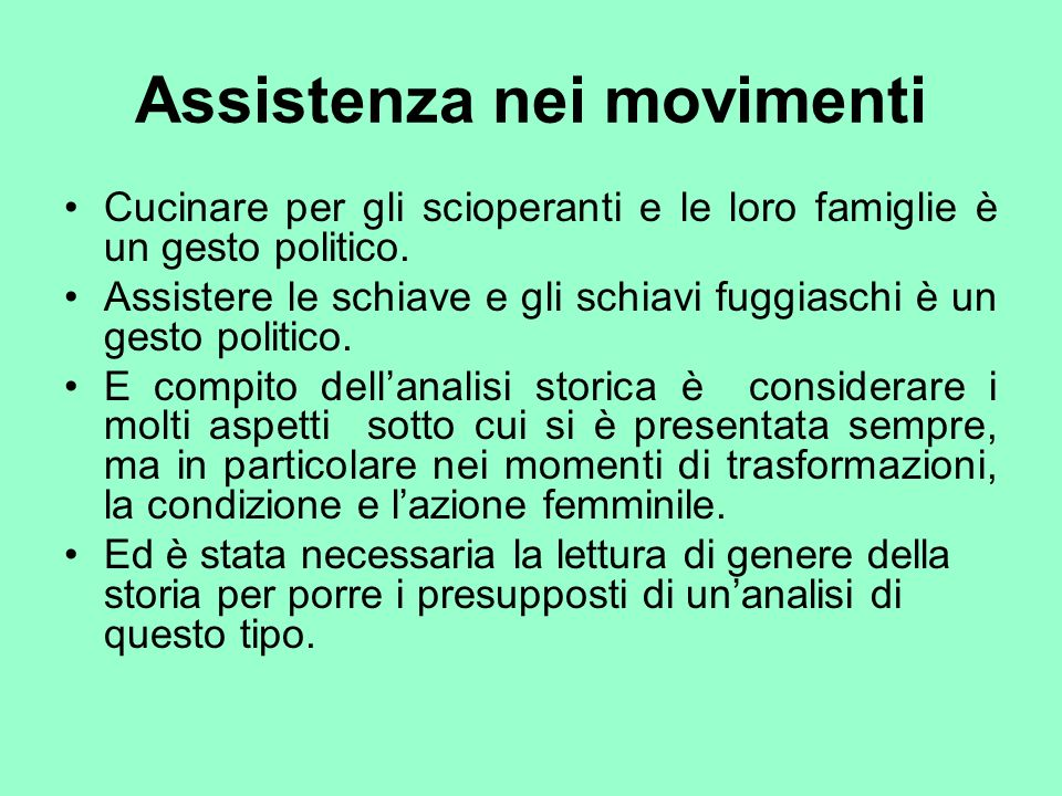 Assistenza nei movimenti