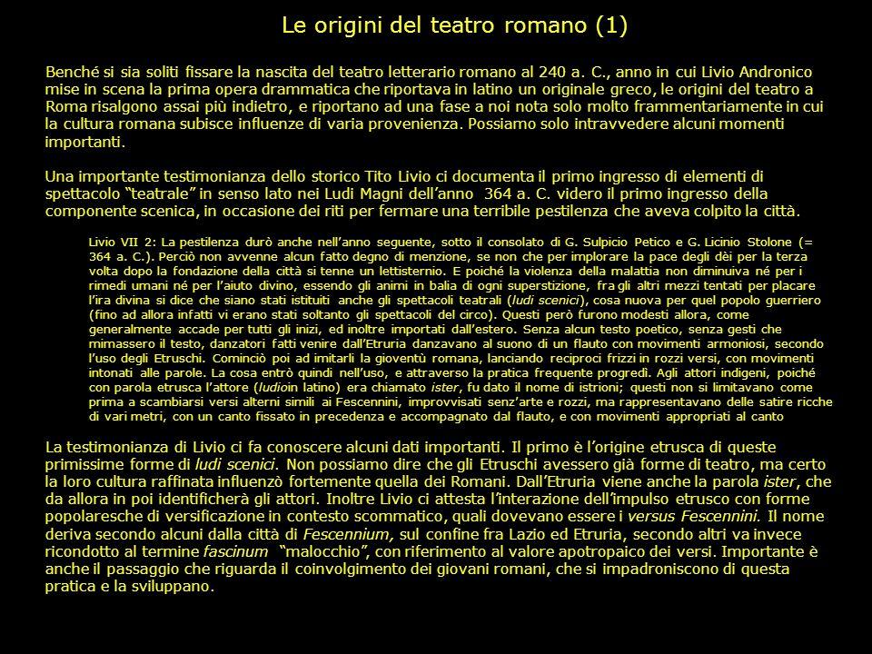 Le origini del teatro romano (1)