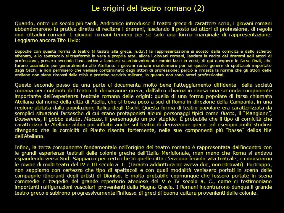 Le origini del teatro romano (2)