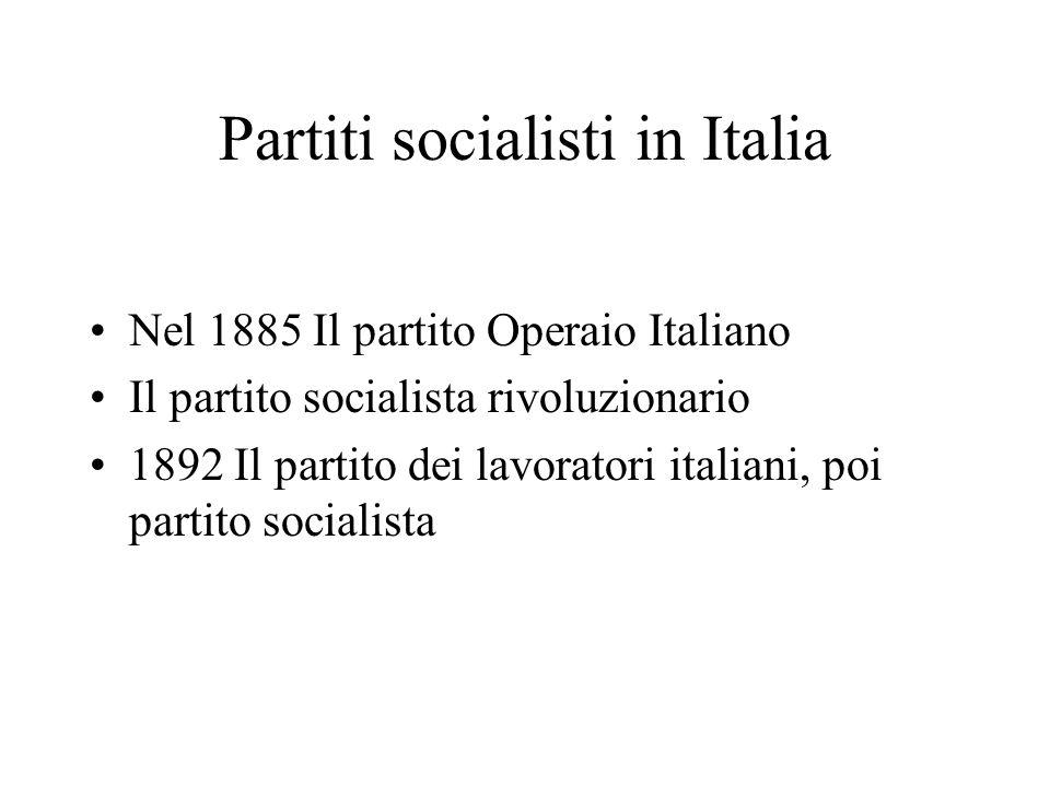 Partiti socialisti in Italia