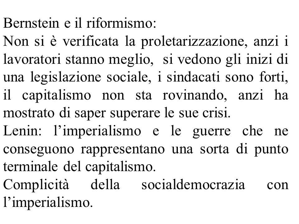 Bernstein e il riformismo: