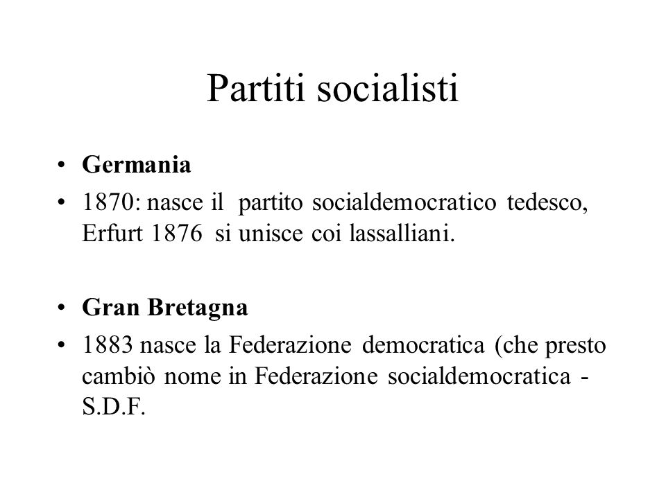 Partiti socialisti Germania