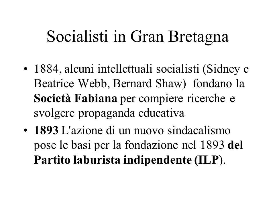 Socialisti in Gran Bretagna