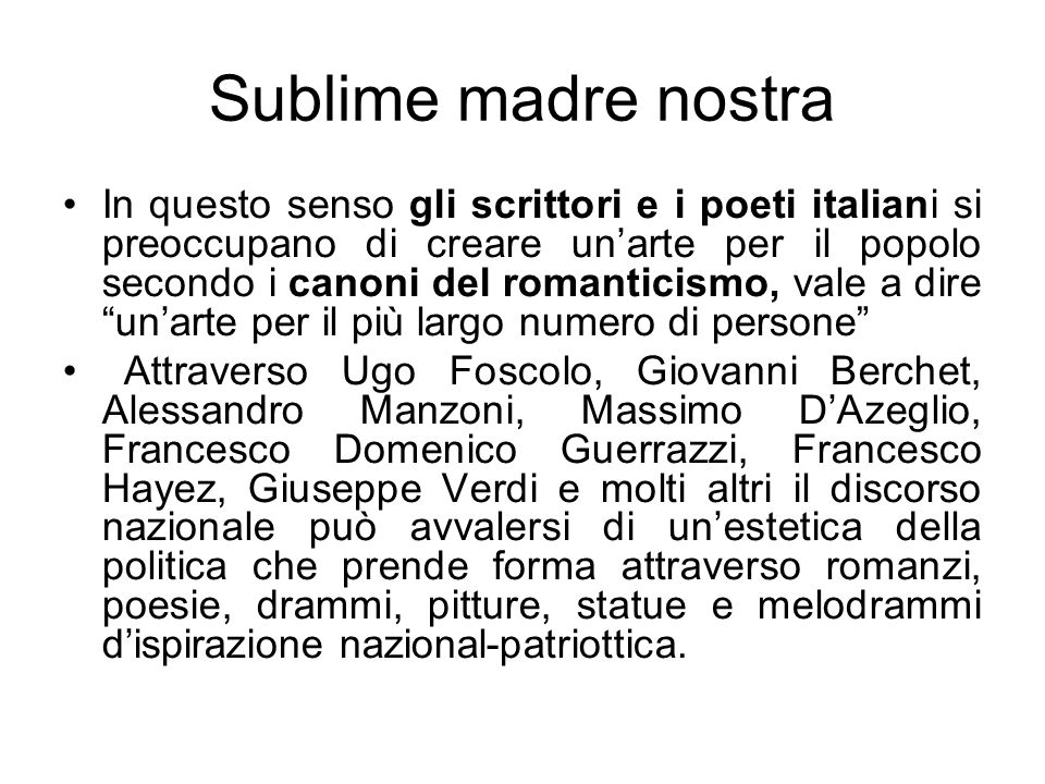 Sublime madre nostra