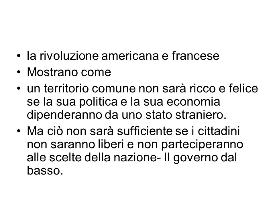 la rivoluzione americana e francese
