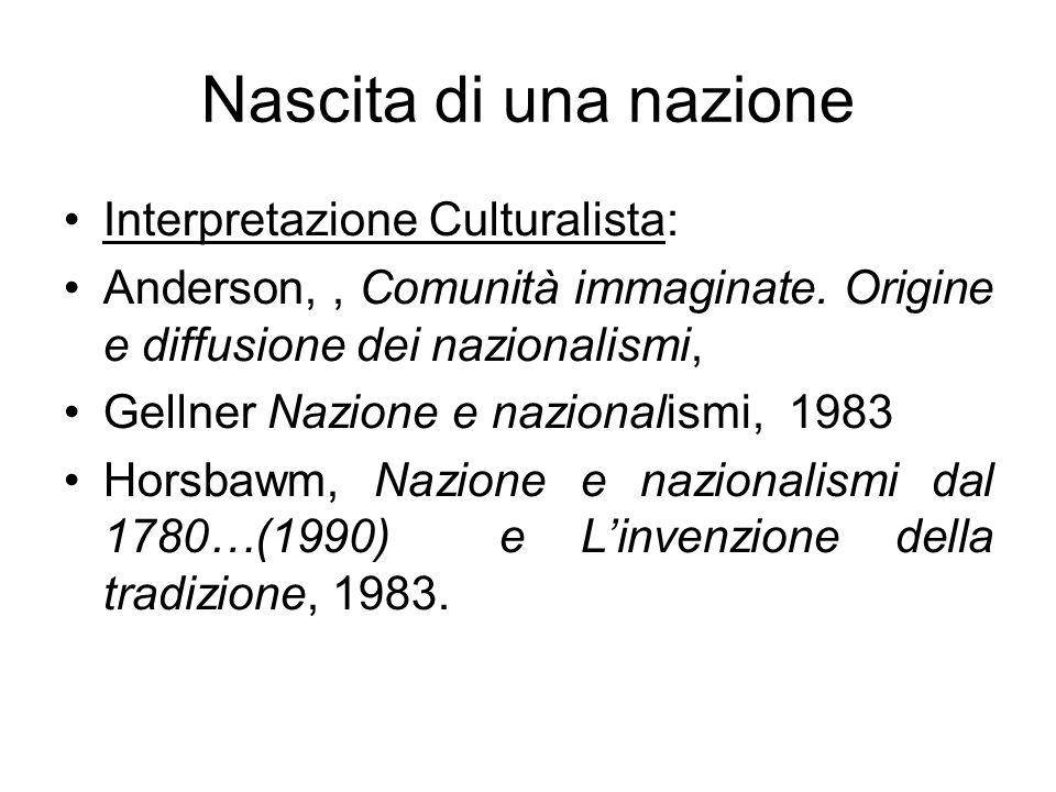 Nascita di una nazione Interpretazione Culturalista: