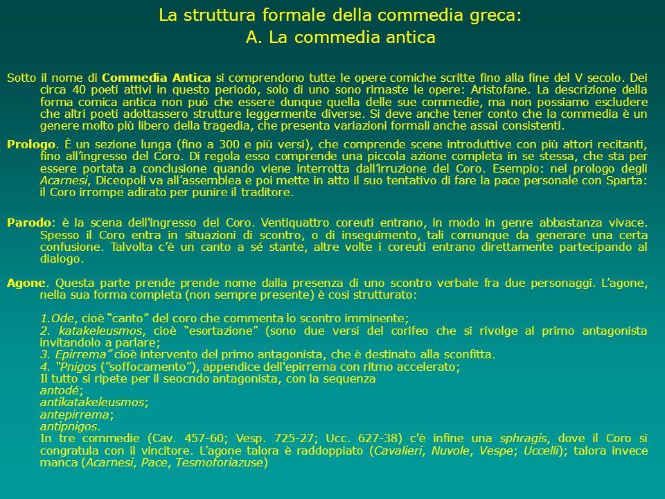 La struttura formale della commedia greca: