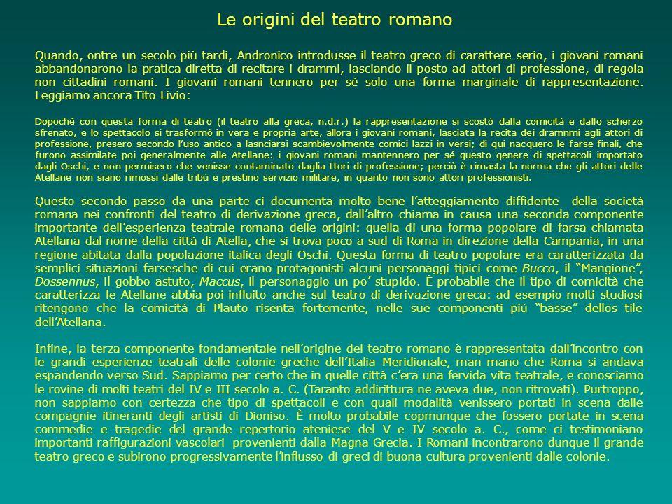 Le origini del teatro romano
