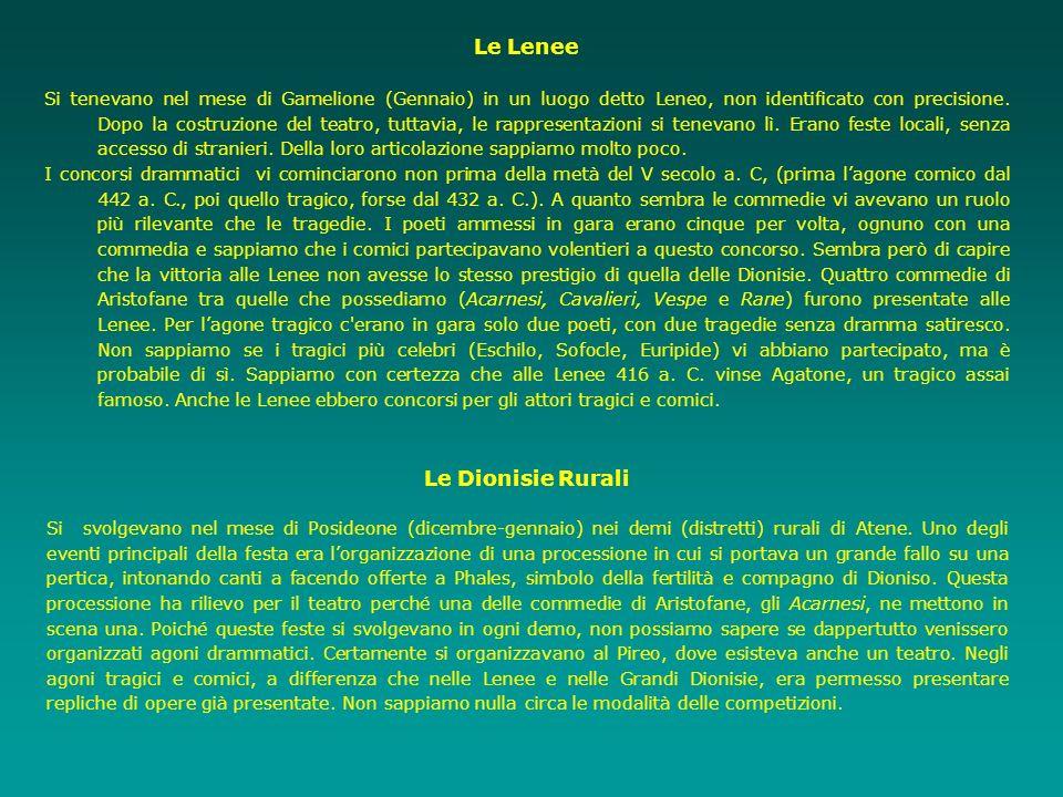 Le Lenee Le Dionisie Rurali