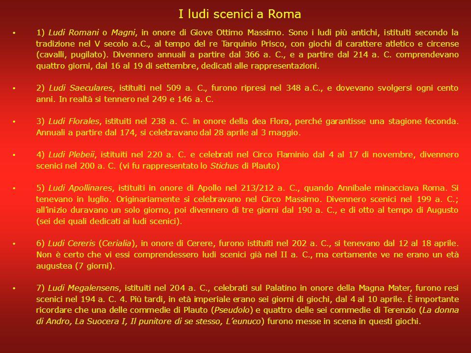 I ludi scenici a Roma