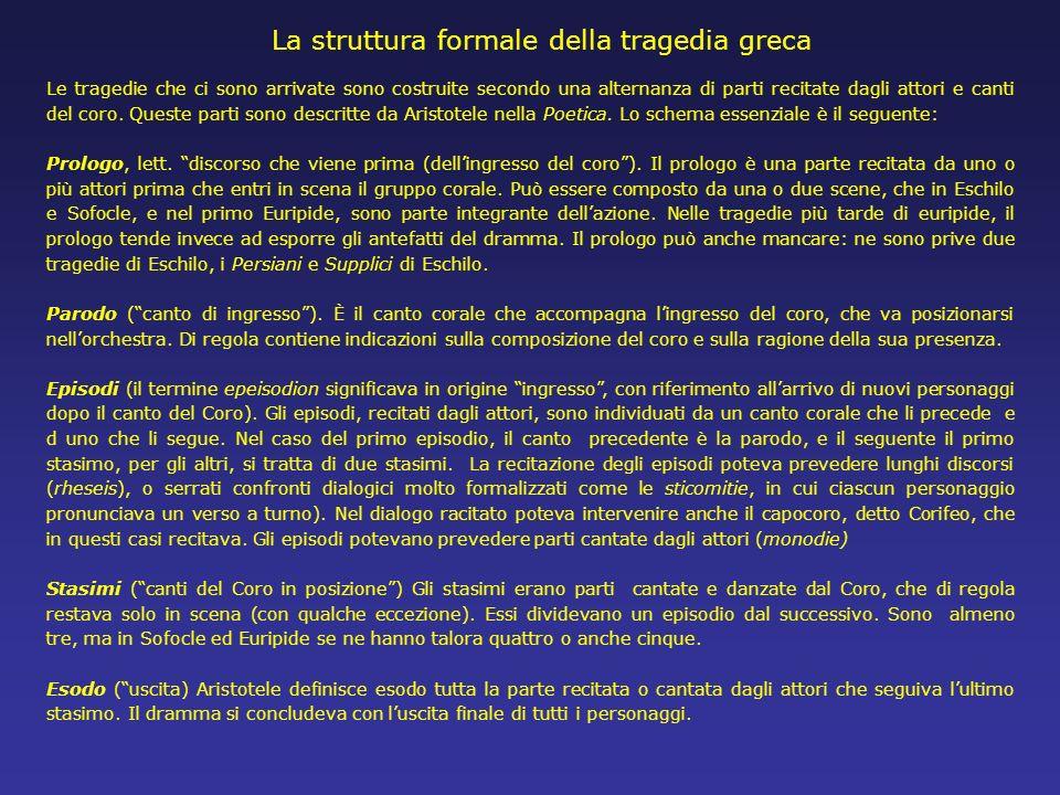 La struttura formale della tragedia greca