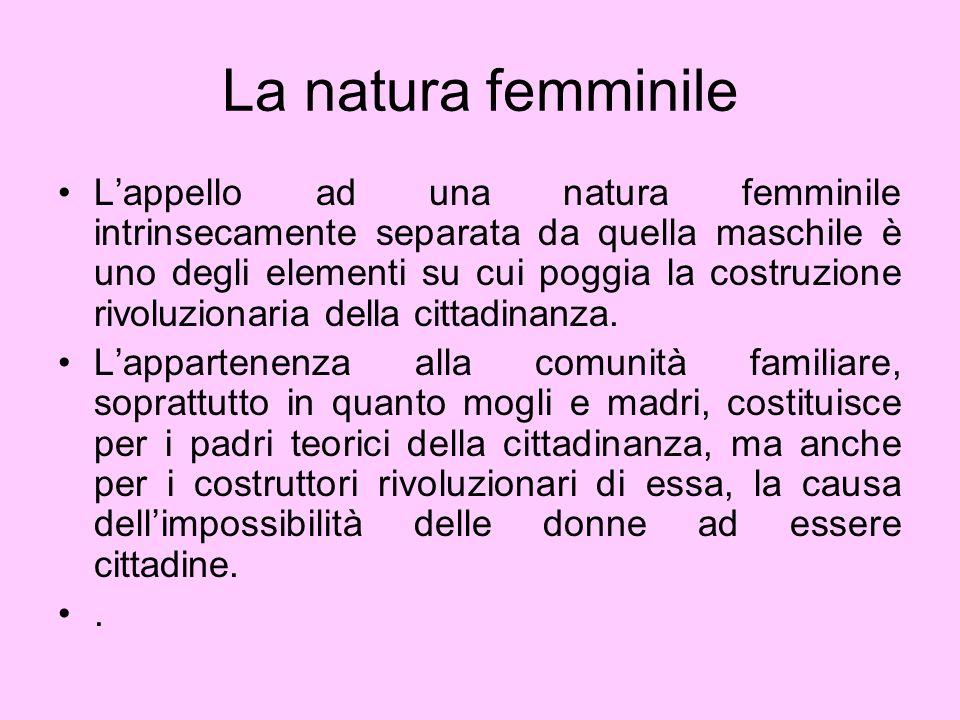 La natura femminile
