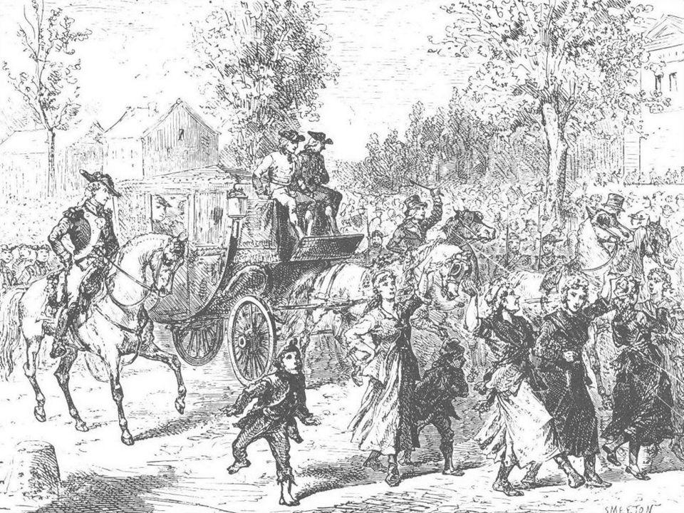 Teroigne de Mericourt guida le donne che accompagnano la famiglia reale alle Tulieries