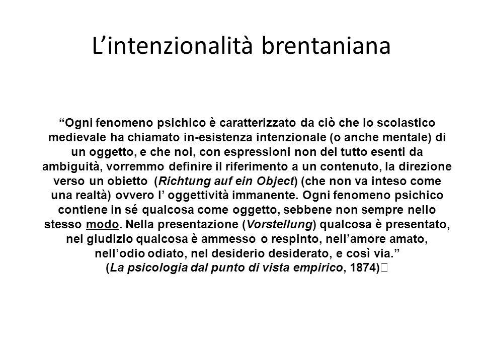 L'intenzionalità brentaniana