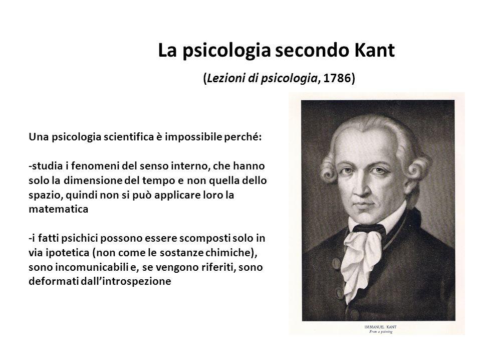 La psicologia secondo Kant (Lezioni di psicologia, 1786)
