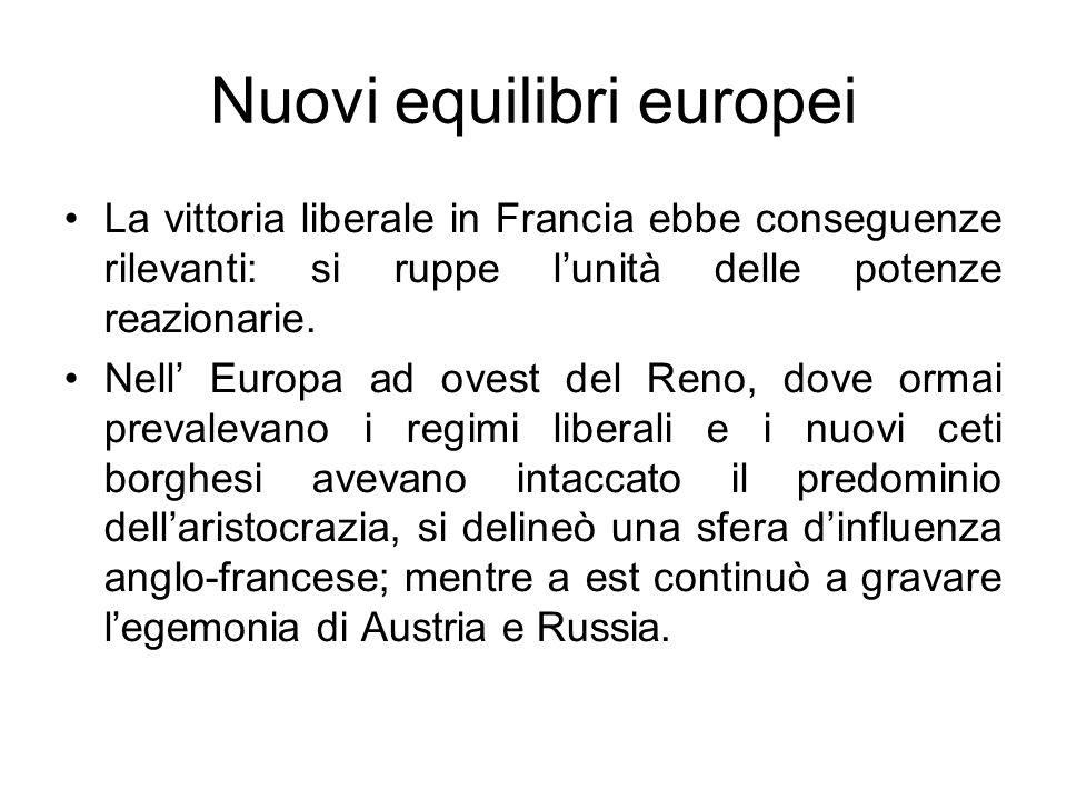 Nuovi equilibri europei