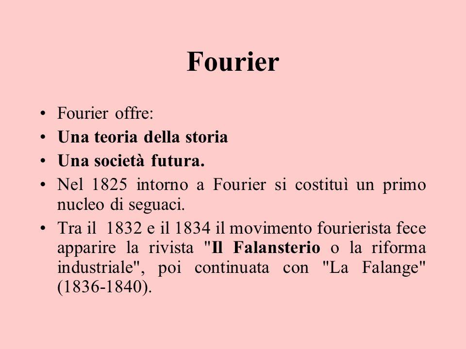 Fourier Fourier offre: Una teoria della storia Una società futura.