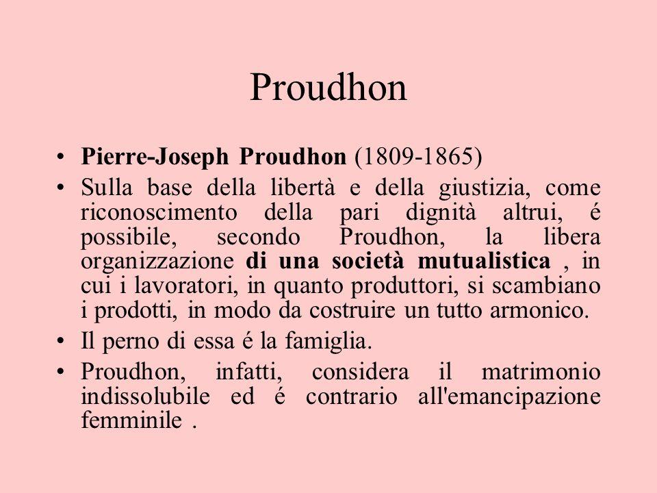 Proudhon Pierre-Joseph Proudhon (1809-1865)