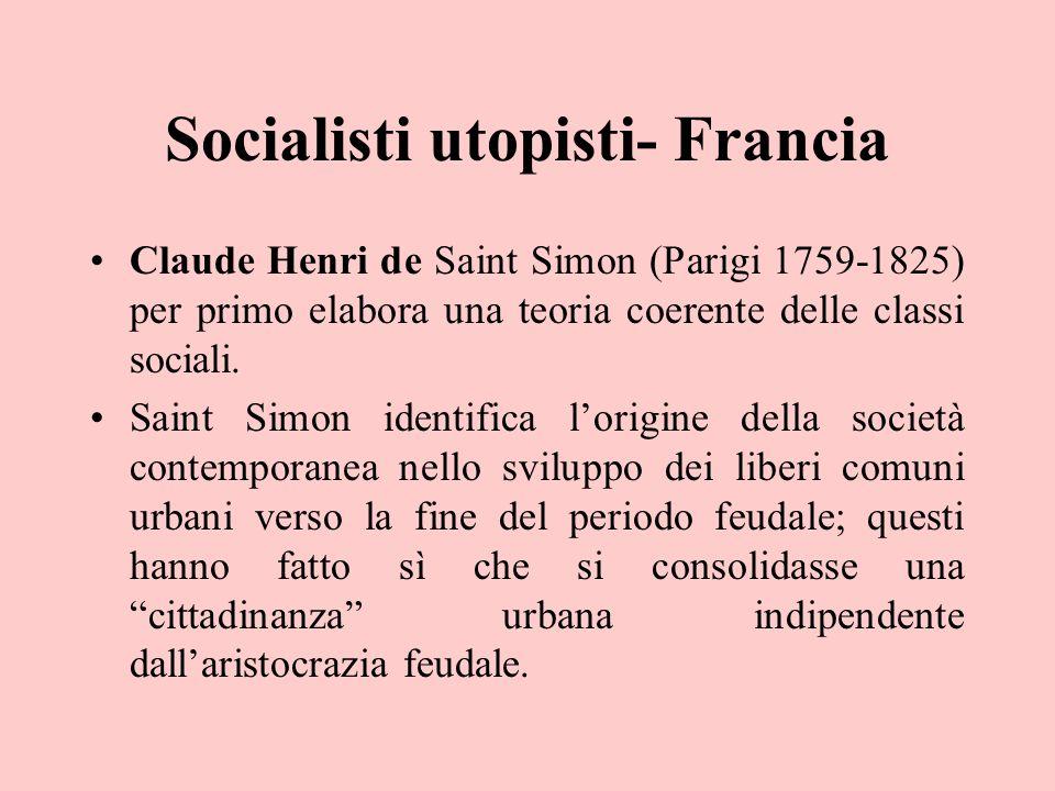 Socialisti utopisti- Francia
