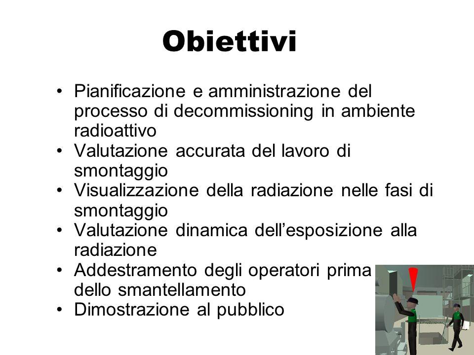 ObiettiviPianificazione e amministrazione del processo di decommissioning in ambiente radioattivo. Valutazione accurata del lavoro di smontaggio.