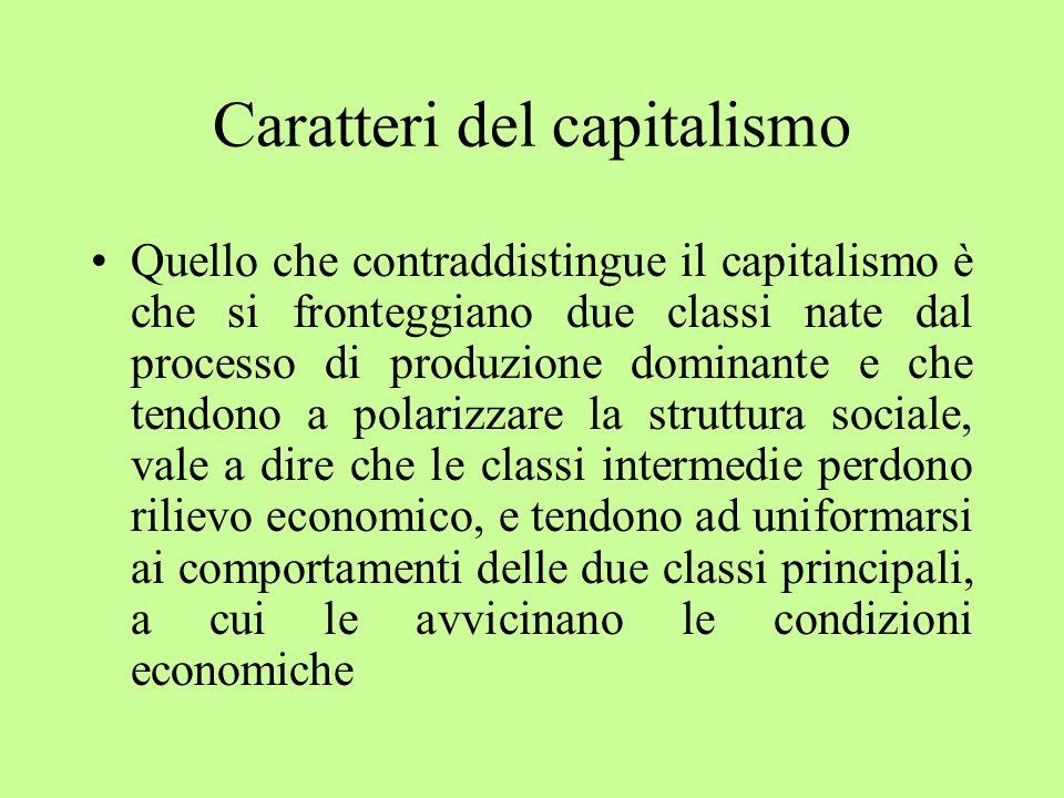 Caratteri del capitalismo