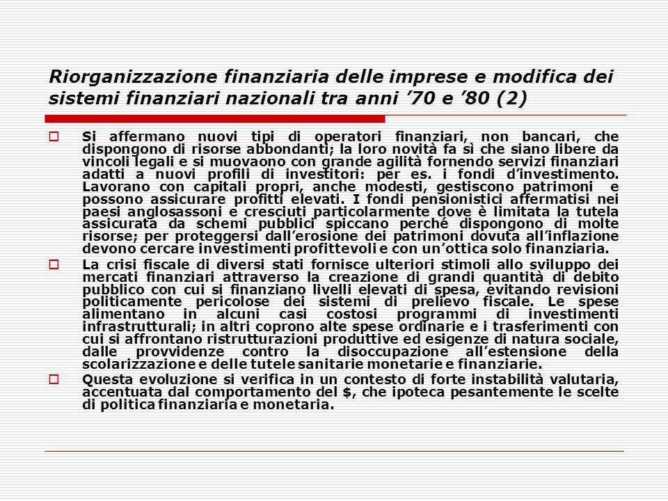 Riorganizzazione finanziaria delle imprese e modifica dei sistemi finanziari nazionali tra anni '70 e '80 (2)