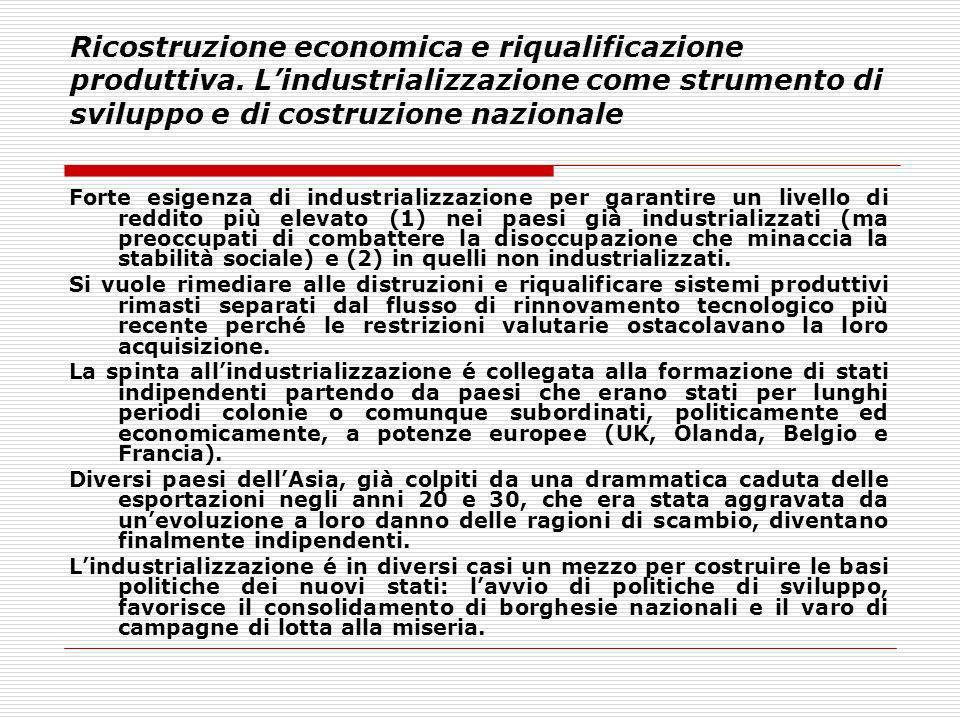 Ricostruzione economica e riqualificazione produttiva