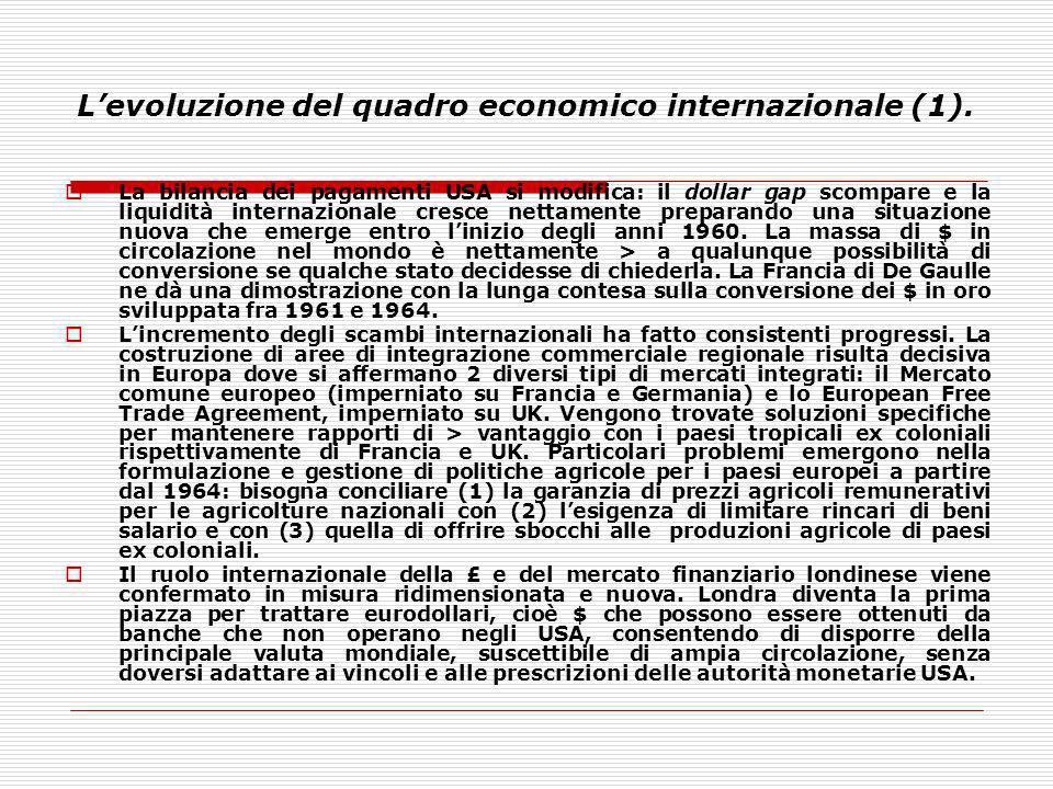 L'evoluzione del quadro economico internazionale (1).
