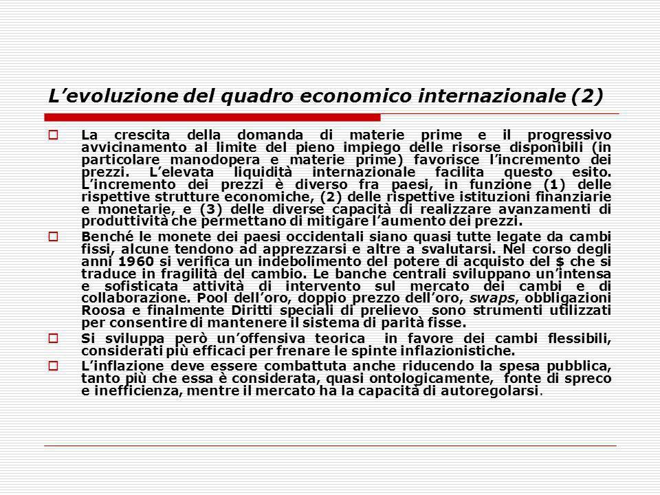 L'evoluzione del quadro economico internazionale (2)