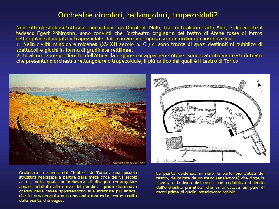 Orchestre circolari, rettangolari, trapezoidali