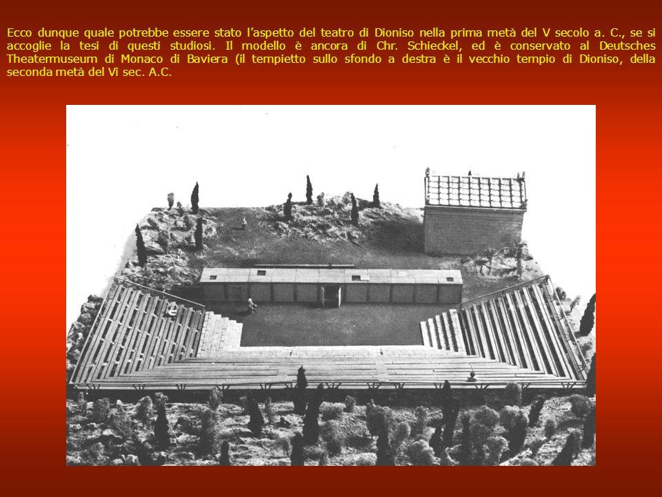 Ecco dunque quale potrebbe essere stato l'aspetto del teatro di Dioniso nella prima metà del V secolo a.
