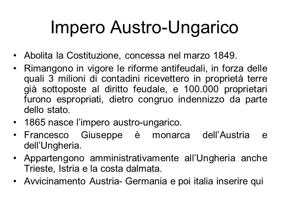 Impero Austro-Ungarico