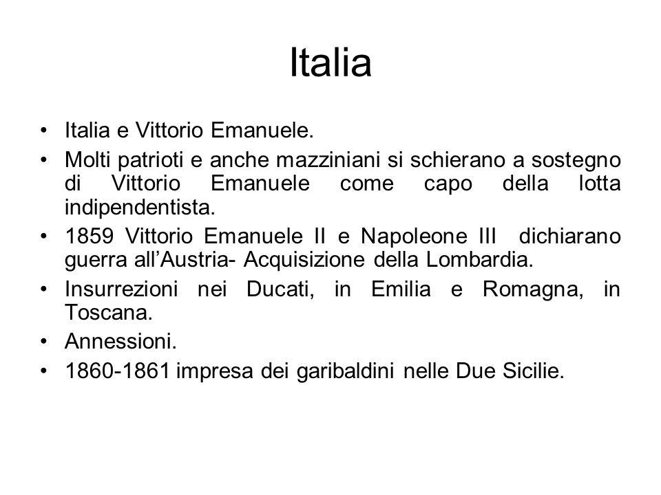 Italia Italia e Vittorio Emanuele.