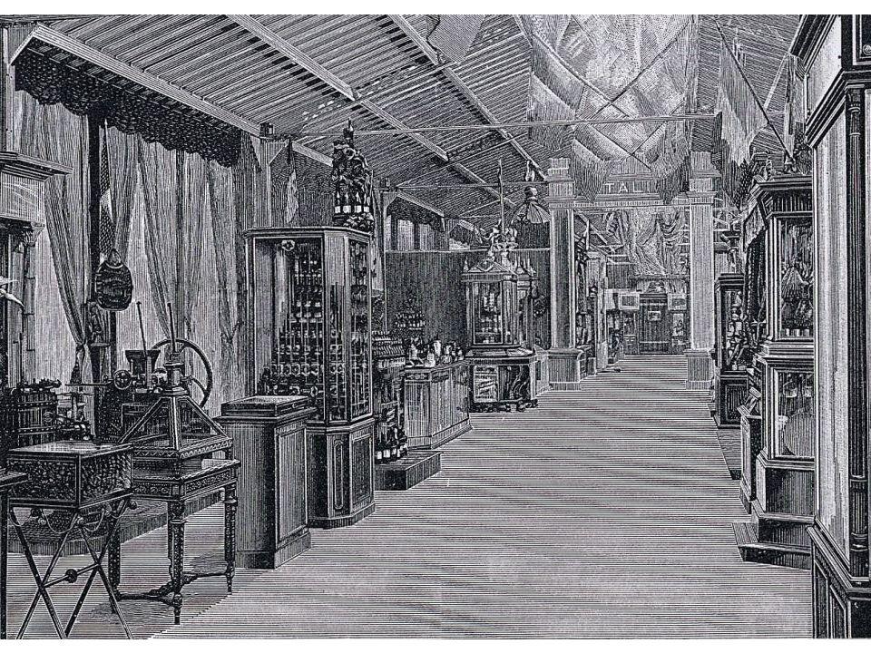 Sezione italiana della galleria prodotti alimentari, Parigi 1889.