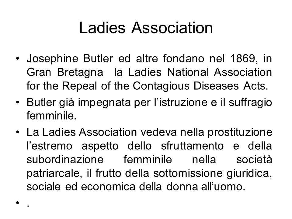 Ladies Association