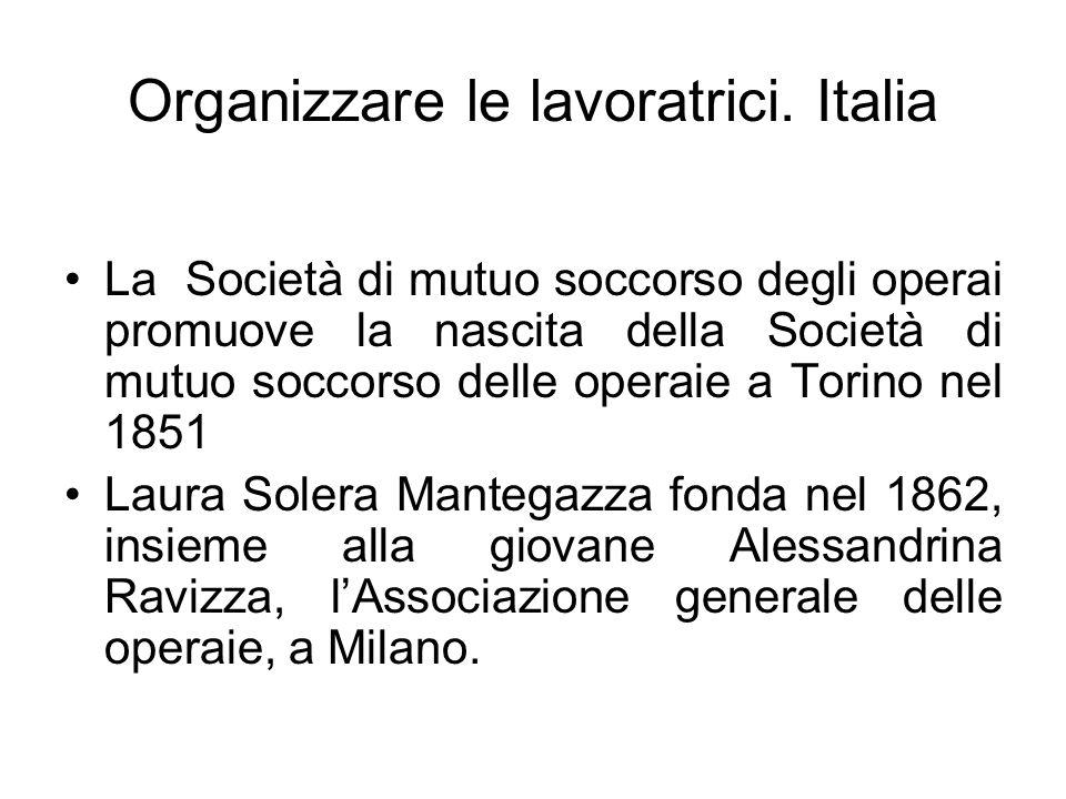 Organizzare le lavoratrici. Italia