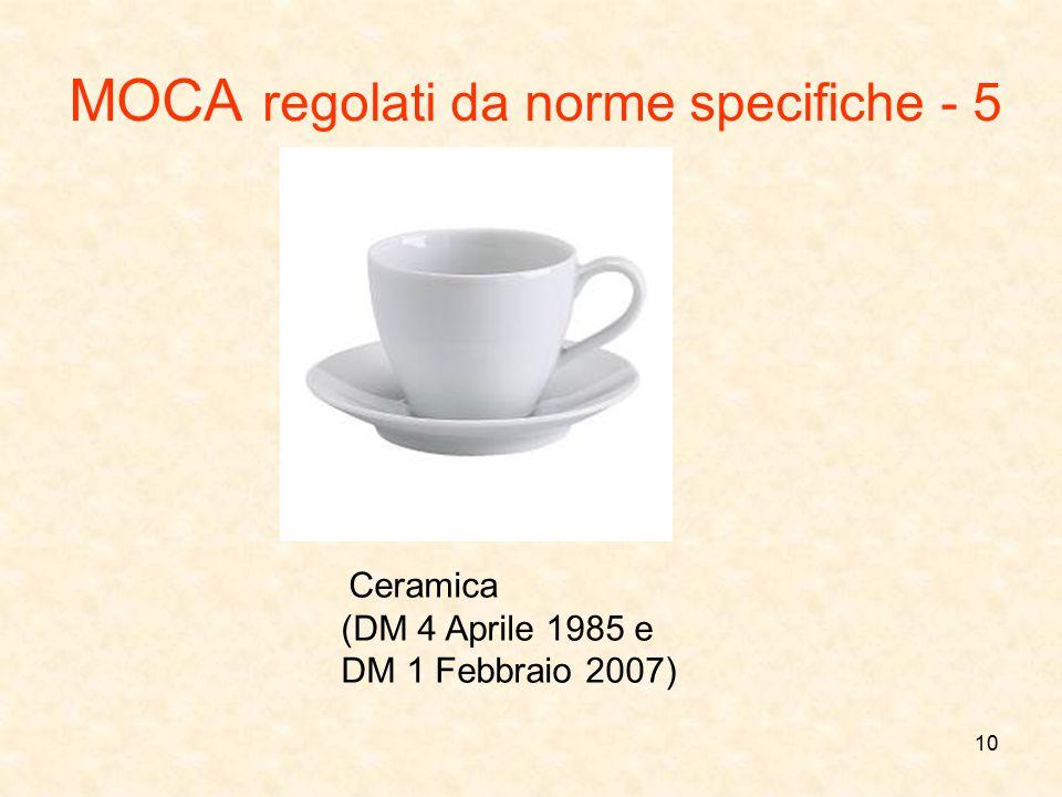 MOCA regolati da norme specifiche - 5