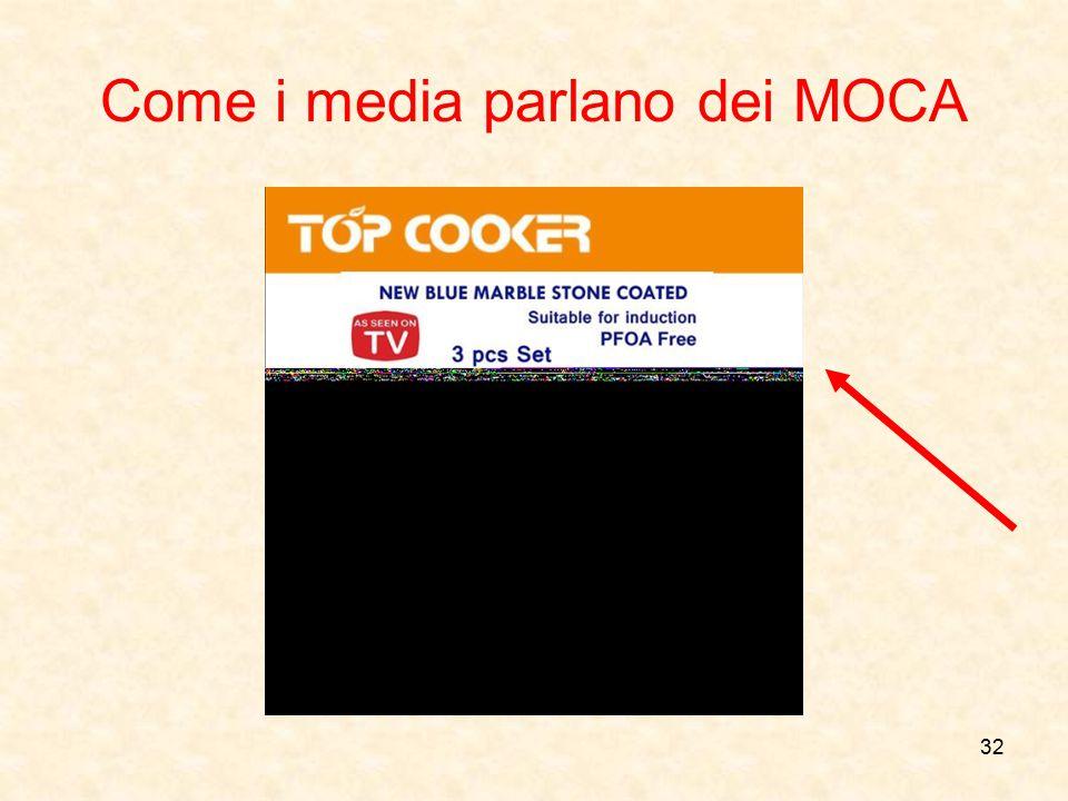Come i media parlano dei MOCA