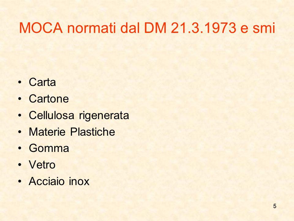 MOCA normati dal DM 21.3.1973 e smi