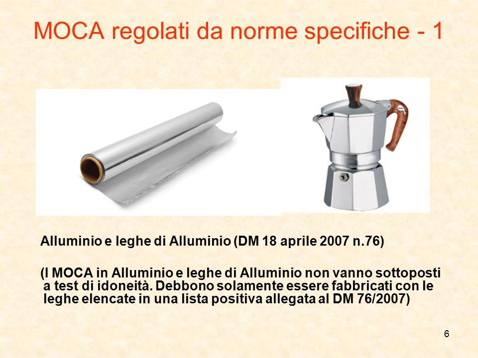 MOCA regolati da norme specifiche - 1