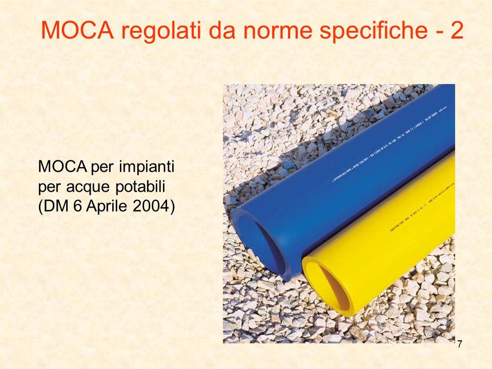MOCA regolati da norme specifiche - 2