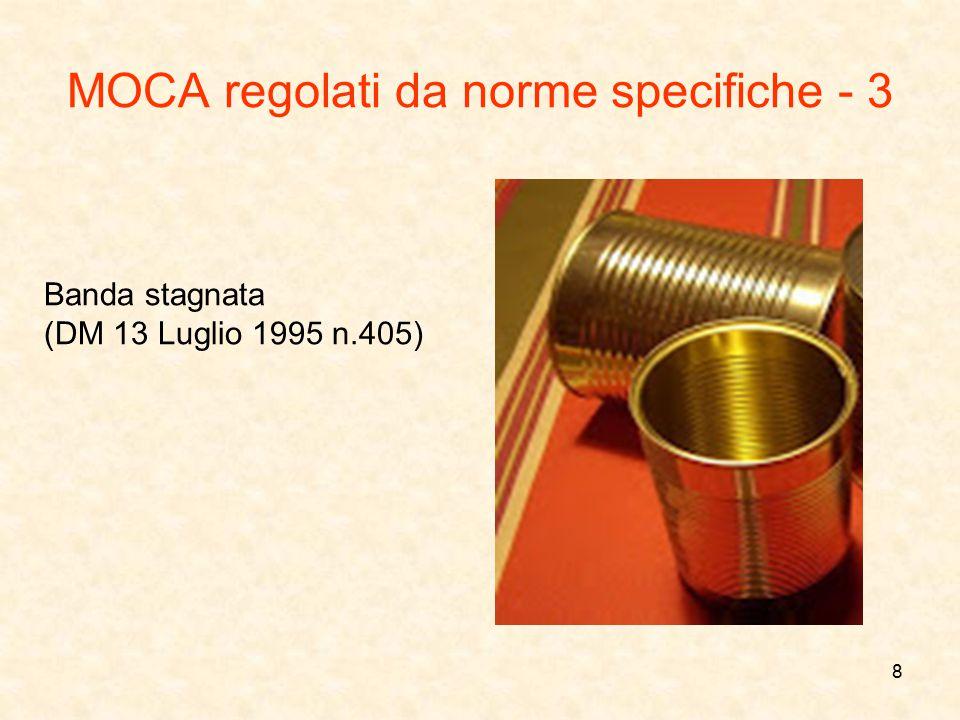 MOCA regolati da norme specifiche - 3