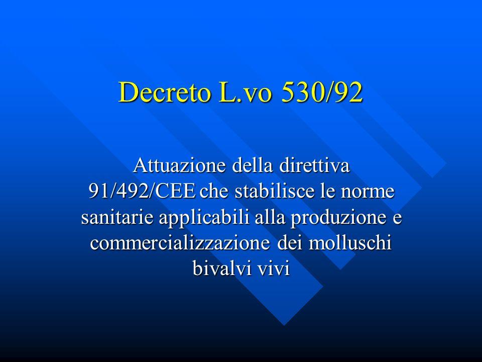 Decreto L.vo 530/92