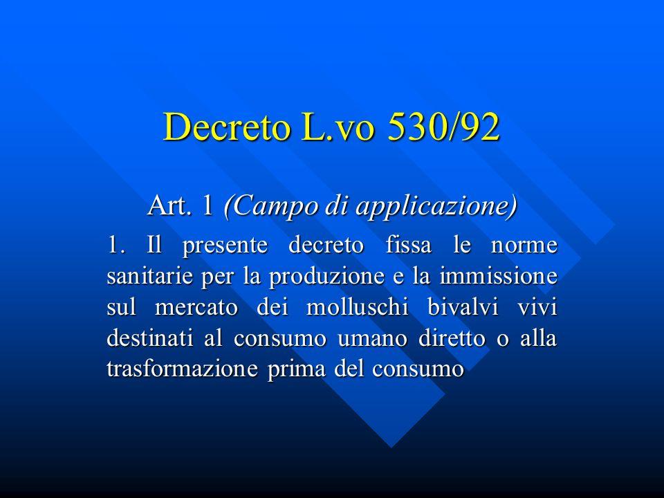 Art. 1 (Campo di applicazione)
