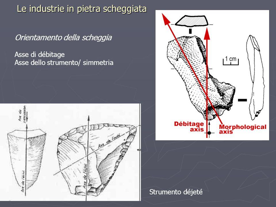 Le industrie in pietra scheggiata