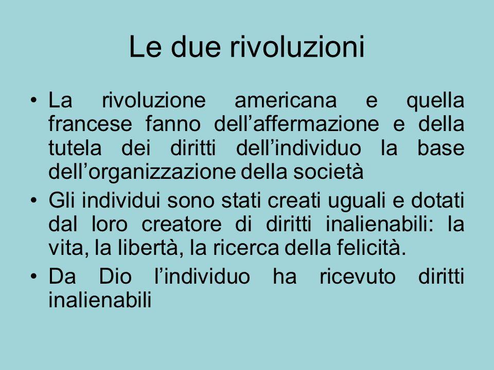 Le due rivoluzioni