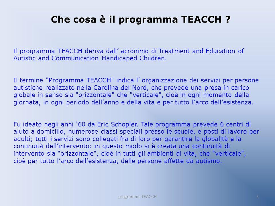 Che cosa è il programma TEACCH