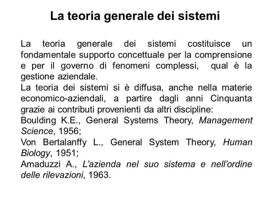 La teoria generale dei sistemi